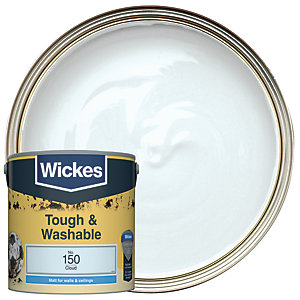 Wickes Cloud - No.150 Tough & Washable Matt Emulsion Paint - 2.5L