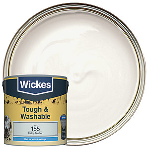 Wickes Falling Feather - No.155 Tough & Washable Matt Emulsion Paint - 2.5L