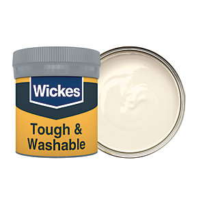Wickes Ivory - No. 400 Tough & Washable Matt Emulsion Paint Tester Pot - 50ml