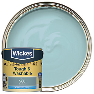 Wickes Blue Jeans - No.960 Tough & Washable Matt Emulsion Paint - 2.5L
