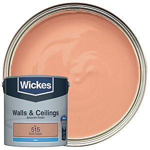 Wickes Burnt Copper - No.515 Vinyl Matt Emulsion Paint - 2.5L