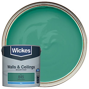 Wickes Jewel Green - No.845 Vinyl Matt Emulsion Paint - 2.5L
