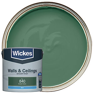 Wickes Estate Green - No.840 Vinyl Matt Emulsion Paint - 2.5L