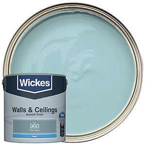 Wickes Blue Jeans - No.960 Vinyl Matt Emulsion Paint - 2.5L