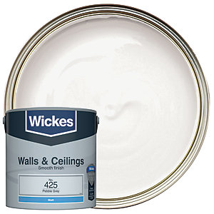 Wickes Pebble Grey - No.425 Vinyl Matt Emulsion Paint - 2.5L