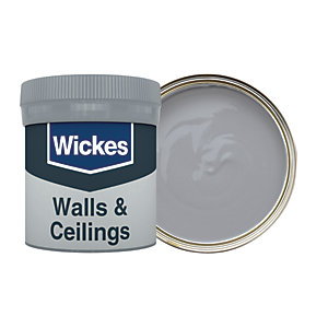 Wickes Pewter - No. 220 Vinyl Matt Emulsion Paint Tester Pot - 50ml
