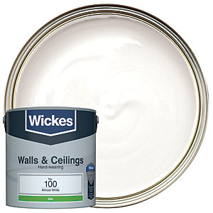 Wickes Almost White - No.100 Vinyl Silk Emulsion Paint - 2.5L