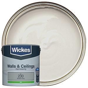 Wickes Shadow Grey - No.230 Vinyl Silk Emulsion Paint - 2.5L