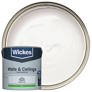 Wickes Pebble Grey - No.425 Vinyl Silk Emulsion Paint - 2.5L