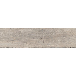 Wickes Mercia Grey Wood Grain Tile - 150 x 600mm Sample