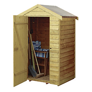Rowlinson 4 x 3ft Overlap Wooden Shed