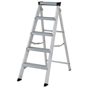 Youngman Builders 5 Tread Aluminium Stepladder