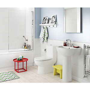 Wickes Boutique Lavina White Ceramic Wall Tile - 890 x 290mm