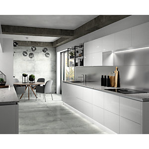 Wickes Boutique Austin White Glazed Porcelain Floor Tile - 1200 x 600mm