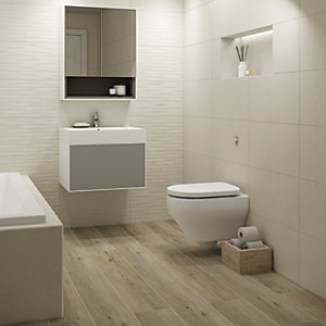 Wickes Boutique Maryland Oak Glazed Porcelain Wood Effect Wall & Floor Tile - 1140 x 200mm