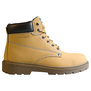Tough Grit Oak Safety Boot - Tan