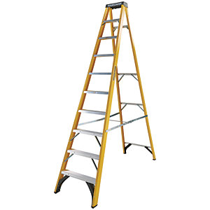 Youngman S400 10 Tread Fibreglass Stepladder