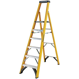 Youngman S400 6 Tread Fibreglass Platform Stepladder