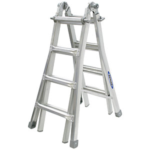 Werner Telescopic 4 x 4 Aluminium Combination Ladder