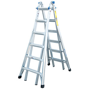 Werner Telescopic 4 x 6 Aluminium Combination Ladder