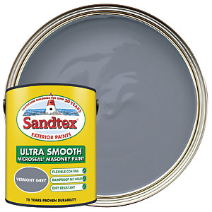 Sandtex Ultra Smooth Masonry Paint - Vermont Grey 5L
