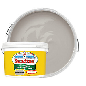 Sandtex Ultra Smooth Masonry Paint - Plymouth Grey 10L