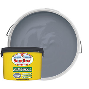 Sandtex Ultra Smooth Masonry Paint - Vermont Grey 10L