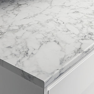Wickes Laminate Marble Effect Worktop - Marmo Grigio 600mm x 28mm x 3m