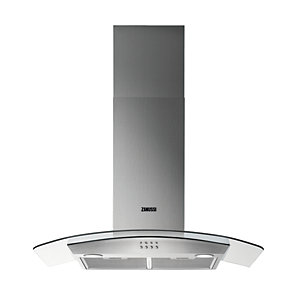 Zanussi 90cm Chimney Hood with Curved Glass ZHC92352X