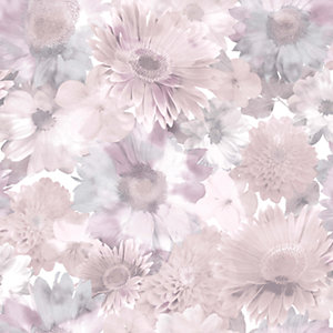Superfresco Easy Pink Summer Garden Wallpaper - 10m