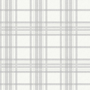 Superfresco Easy Silver Country Tartan Wallpaper - 10m