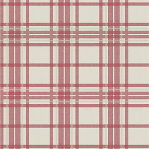 Superfresco Easy Red Country Tartan Wallpaper - 10m