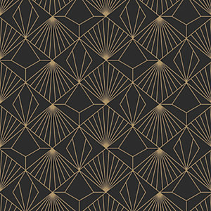 Sublime Diamond Black Geometric Wallpaper - 10m