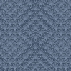Superfresco Easy Blue Ecailles Gatsby Wallpaper - 10m
