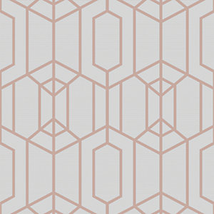 Superfresco Easy Albany Grey Geometric Wallpaper - 10m
