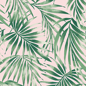 Superfresco Easy Pink Elegant Leaves Wallpaper - 10m