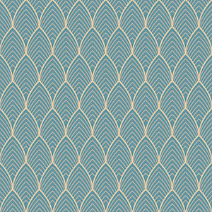 Superfresco Easy Bercy Blue Geometric Wallpaper - 10m