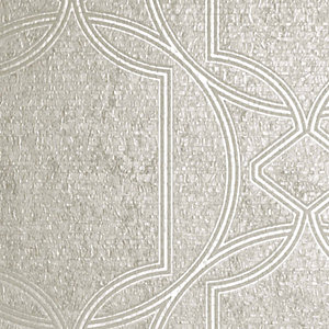 Boutique Deco Geometric Ecru Wallpaper - 10m
