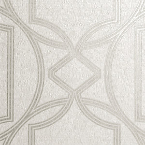Boutique Deco Geometric Ivory Wallpaper - 10m