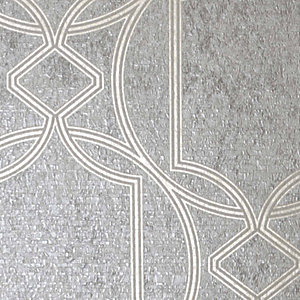 Boutique Deco Geometric Taupe Wallpaper - 10m