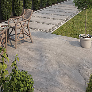 Botany Grey Outdoor Porcelain Tile 900 X 600mm