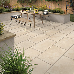 Sandsend Beige Outdoor Porcelain Tile 900 X 450mm