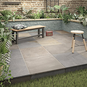 Holkham Grey Multi Outdoor Porcelain Tile 600 X 600mm
