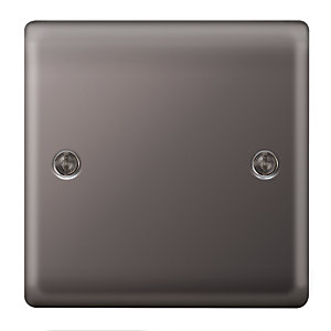 Wickes 1 Gang Blanking Plate Black Nickel Raised Plate