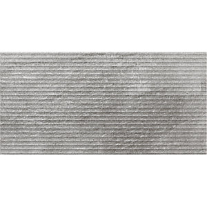 Wickes Manhattan Light Grey Structure Ceramic Wall Tile 250 x 500mm Sample