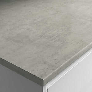 Wickes Laminate Worktop Upstand Cloud Cement 70mm X 12mm X 3000mm