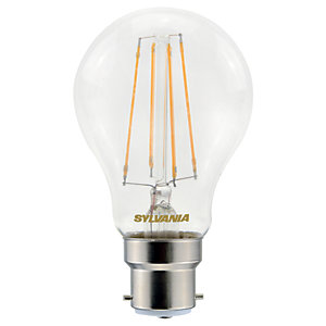 Sylvania LED Filament B22 GLS Bulb - 7W Pack of 4
