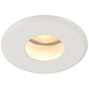 Saxby GU10 Fire Rated IP65 Cast Fixed Downlight - Matt White