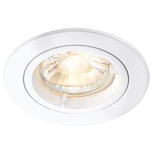 Saxby GU10 Cast Fixed Downlight - Matt White