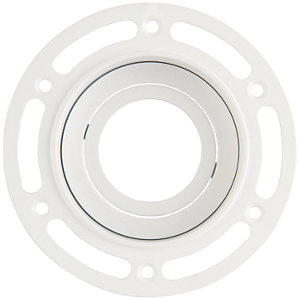 Saxby GU10 Trimless Plaster In Round Downlight 7W - White